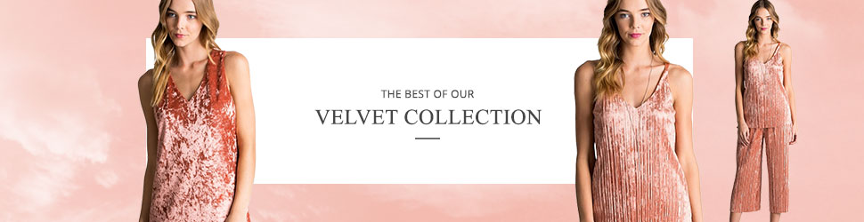 Velvet Wholesale Clothing Fashion